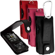 Cuero Funda Piel Carcasa Case para Sony Walkman NWZ-E585 Prot Pantalla Mosquetón