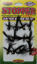 K & E Poppers for Crappie,Panfish, Card of 12, Black, Size 12 #SP309-12-I