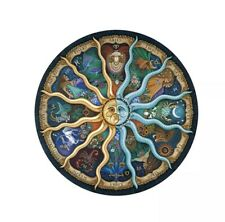 Round 500 Piece Jigsaw Puzzle 12 Zodiac Signs Indoor Adults Kids DIY Toy 47cm