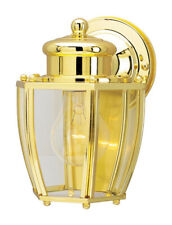 Westinghouse Wall Sconce Exterior Light Fixture Polished Brass Lantern 66521