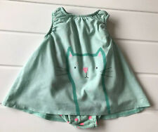 Baby Next Age 0-3 Months Dress - Body short romper Pretty Kitty  & Spot print