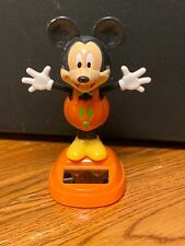 New Solar Powered Dancing Toy Bobble Head HALLOWEEN - Pumpkin Mickey Mouse