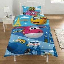 Super Ailes Destinations Set Housse de Couette Simple Réversible Literie Enfant