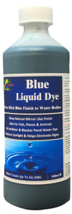 Hydra Blue Liquid Dye for Ponds & Water features 500ml Rich Blue Finish to Water