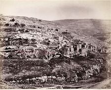 Siloam Palestine Israël Photo Albumine Tirage vers 1890 petit format