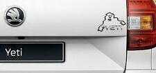 Skoda Yeti Böse Monster Sticker Aufkleber Folie Für Yeti Emblem Schriftzug