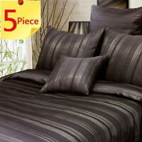 Northcote Jacquard Duvet | Doona Quilt Cover Set by Phase 2 | 5 Piece | King