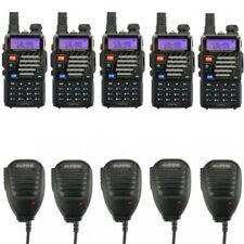 5×BaoFeng UV-5R Plus + 5×MICROFONO RICETRASMITTENTE PMR Radio ham WALKIE TALKIE