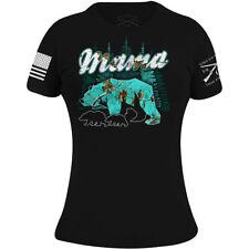 Grunt Estilo para Mujer De Mar Realtree Xtra Vidrio Mama Oso Camiseta-Negro