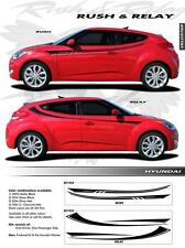 FOR HYUNDAI VELOSTER EE1934 RUSH Graphics Decals Trim Emblems 2012-2015