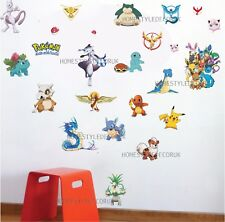 POKEMON PIKACHU WALL STICKER Pocket Monster Kids Room Vinyl Decals UK Seller