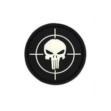 Patch Punisher VISIERA 3d rubber skull cranio impiego militare 4,5cm #23279