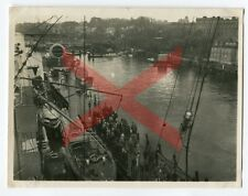 KREUZER KARLSRUHE - orig. Foto, Blücherbrücke, Kiel, 1930, light cruiser