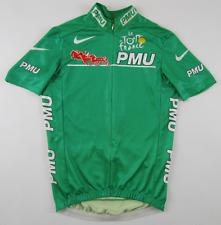 Tour de France 2000s PMU maillot vert green cycling jersey top Radtrikot Nike S