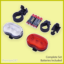 2 X Bicycle LED Tail Front AND Rear Light Flash Mountain Bike Waterproof Bright