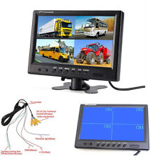 Quad Split Screen Car Monitor Parking Assist For CCTV Security System/School Bus