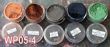 WPS05-4 DAVE'S WEATHERING POWDERS ALL NATURAL EARTH PIGMENT 5 COLOR SET 4