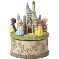 Precious Moments Disney Showcase Princess Rotating Castle Resin LED Music Box