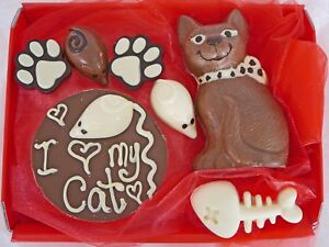 Hand-made Belgian Chocolate Cat Lover and Mouse Hamper