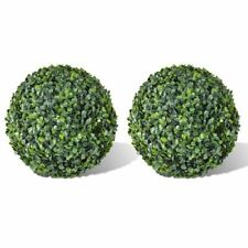 "vidaXL 2x Patio Boxwood 13.8"" Artificial Topiary Ball Faux Plant Outdoor"