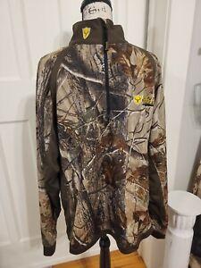 Scent Blocker Adrenaline Deer Hunting Jacket. 1/4 Zip Pullover Size XL. NWOT