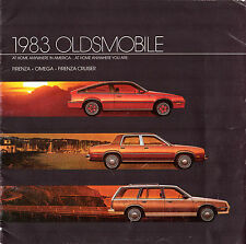 Oldsmobile Firenza & Omega 1983 USA Market Sales Brochure Sedan Coupe Cruiser
