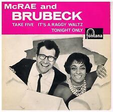 CARMEN McRAE / DAVE BRUBECK McRae & Brubeck Fontana TFE 17395 Superb vocal versi