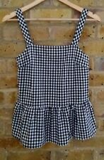 NEW RRP £25 M & S Limited Edition Size 6 Cotton Black White Check Summer Top