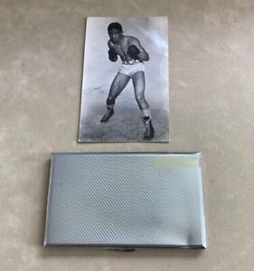 Randolph Turpin Signed Photo & Personally Owned Cigarette Case AFTAL/UACC RD