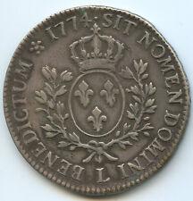 Louis XV (1715-1774) Écu à la vieille tête 1774 L Bayonne