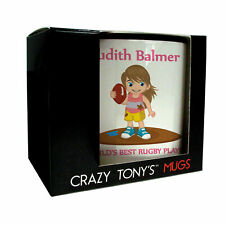 Fun Rugby Gifts For Girls, Girls Rugby Mug, Crazy Tony's, Girls Rugby Gift Ideas