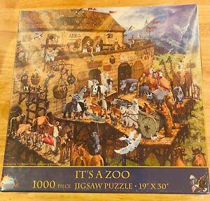 """NISB - SunsOut it's a Zoo 1000 Piece Jigsaw Puzzle 19 """"× 30"""""""