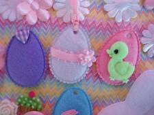 "40 Padded Felt 1.75"" Easter Egg Applique/trim/craft/Cute/pink/white/pastel H11"