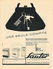 PUBLICITE ADVERTISING 034   1961   SAUTER    chauffe-eau chauffage éléctroménage