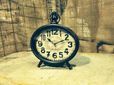 Brown TABLE CLOCK London SHABBY VINTAGE Mantle CHIC Cottage Unique Decor