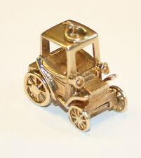 Splendid Vintage Large 9ct Gold Old Fashioned Motor Car Charm 8.6 grams