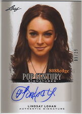 "2012 POP CENTURY AUTO: LINDSAY LOHAN #5/25 AUTOGRAPH ""MEAN GIRLS/FREAKY FRIDAY"""
