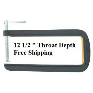 "12"" Deep Throat U C-Clamp 4"" Jaw Opening Steel Powder Coated Rust Resistance New"