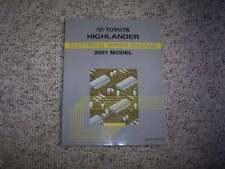 2001 Toyota Highlander Electrical Wiring Diagram Manual 2.4L 3.0L 4Cyl V6