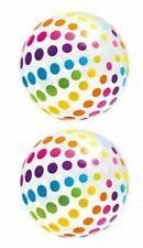 2PC Intex Jumbo Inflatable Glossy Big Polka-Dot Color Giant Beach Ball - 59065EP