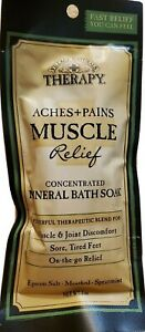 Village Naturals Therapy Aches + Pains MUSCLE Relief MINERAL BATH SOAK