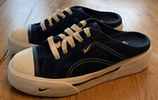 Nike Women's  Hermosa 143028-471 Size 7 Slip On Blue Denim Athletic Mule