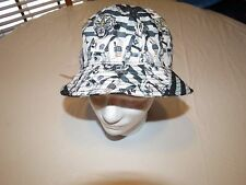 Neff space Tiger astronaut OS fishing grey RARE Mens adult sun bucket hat cap
