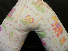 V Support Pillowcase childrens fabric, Elephants, soft colours