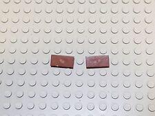 5x Lego 1 x 2 Floor Tiles - Brown