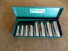"S-K Tool Set SAE (3/8"" Drive) Deep Socket 6 Pt. EXCELLENT CONDITION (USA)  5/21"