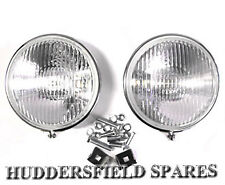 """Stainless steel 5"""" fog lights pair off for classic Mini, New with brackets"""