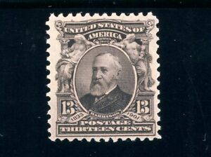 USAstamps Unused VF US Serie of 9102 Harrison Scott 308 OG MNH