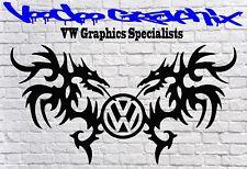 "Volkswagen 17"" VW logo Decal Stickers Transporter T6 T5 T4 Campervan Bonnet"