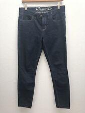 MADEWELL 28 Skinny Straight Leg Jean Blue Cotton Spandex Dark Wash MidRise Denim